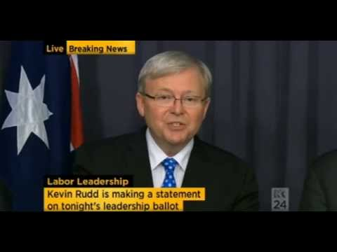 Kevin Rudd 2013 Press Conference Speech about winning back the leadership of the Labor party Mp3