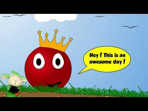 Игровой мультик - Красный Шар Red Ball 2 Полное прохождение Поиски пропавшей короны Видео для детей
