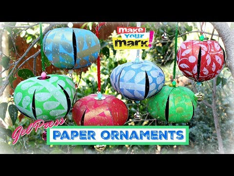 Paper Ball Ornaments with Gel Press