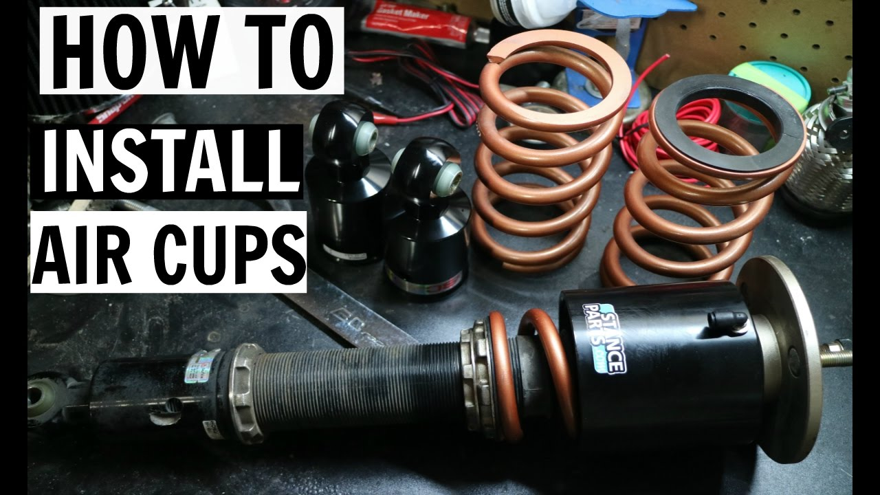 How To Install Air Cups Bc Coilovers Stance Parts Youtube