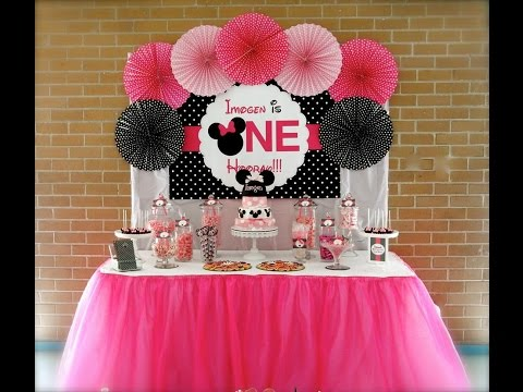 Minnie Mouse First Birthday Party via Little Wish Parties childrens party blog