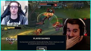 bjergsen s clean ekko   tobias fate reacts to gripex ban for 1 death best of lol streams 93