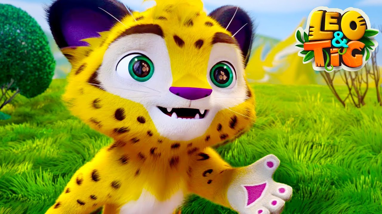 Leo and Tig - Best episodes - Good Animated Movies - baby leopard and tiger - Moolt Kids Toons