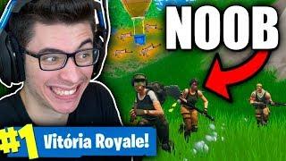 FINGI SER NOOB E FIZ VÁRIOS AMIGOS! Fortnite: Battle Royale thumbnail