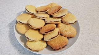 Бисквитное печенье за 15-20 минут с выпечкой!  Из 3-х ингредиентов!