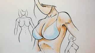 How to Draw The Female Breast ( Very Simple Trick )