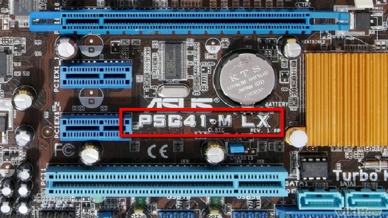 how to find motherboard model number