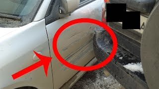 Russian Guy 'Fixes' Bump In Car With The Cunning Use Of A Sharpi ... FIX OR LEAVE IT?