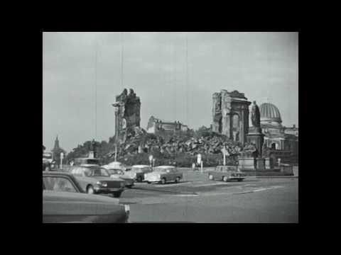 Dresden auf Schmalfilm mit Ruine Frauenkirche (ca.1967)