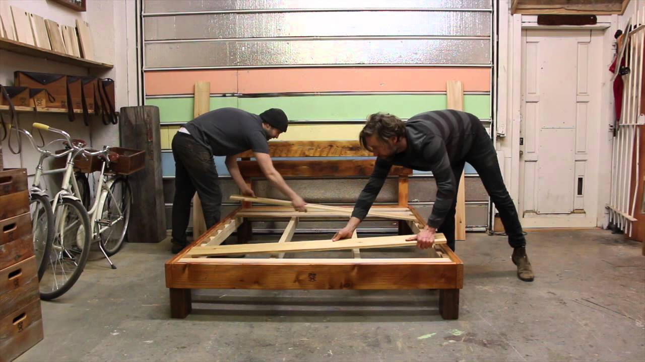 Reclaimed Wood Hobo Bed Frame Youtube