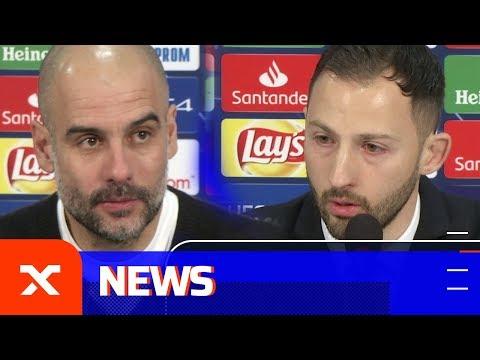 Pep Guardiola und Domenico Tedesco: Freude und Enttäuschung | FC Schalke 04 – Manchester City 2:3