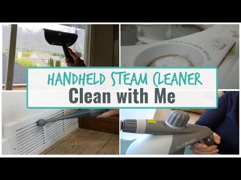 CLEAN WITH ME | HANDHELD STEAM CLEANER | SEE IT IN ACTION!