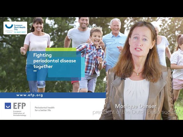 European Gum Health Day 2017 in the Netherlands presented by NVvP president Monique Danser