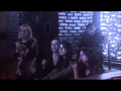 Karaoke clip 3 Georgian Girls Sing at Krombacher, Tbilisi, republic of Georgia