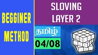 #4 Learn how to solve layer 2 || RUBIK'S CUBE IN TAMIL