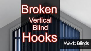 REPLACING VERTICAL BLINDS HEAD RAIL HOOKS