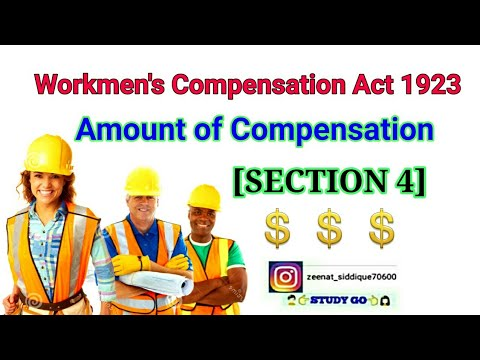 Amount of compensation in workmen compensation act 1923 |section 4 in workmen compensation act 1923 mp3