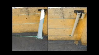 How To Make Mount Foldable Clothes Drying Rack Using PVC Pipes