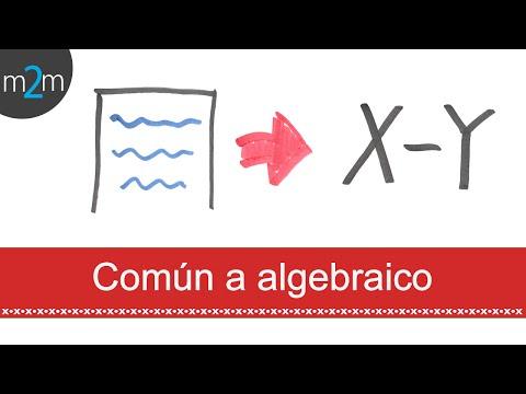 Traducción de lenguaje común a algebraico