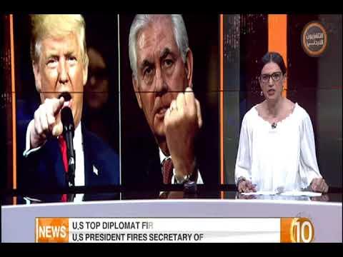 English News at Ten on Jordan Television  13-03-2018