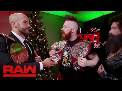 Cesaro & Sheamus receive their new Raw Tag Team Titles: Raw, Dec. 19, 2016