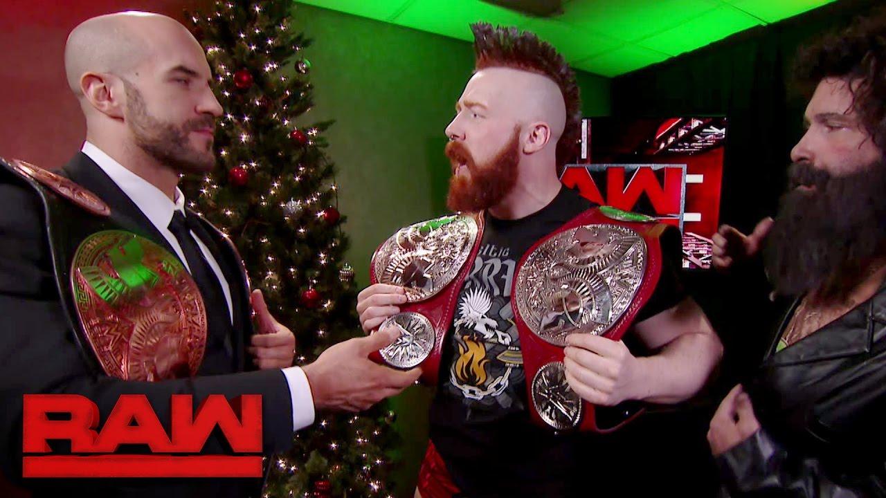 Cesaro Sheamus Receive Their New Raw Tag Team Titles Raw Dec 19