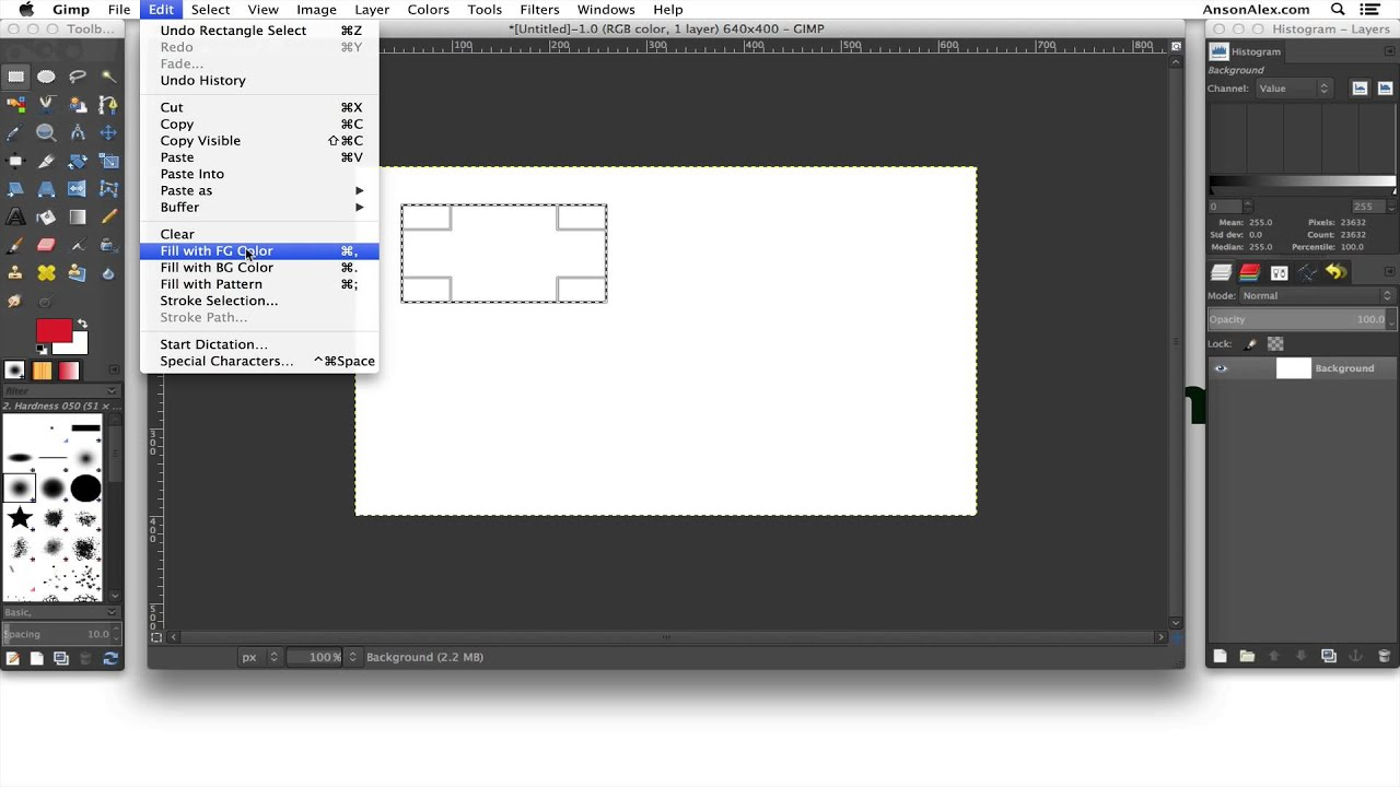 How To Draw Shapes In Gimp 2 8 Youtube