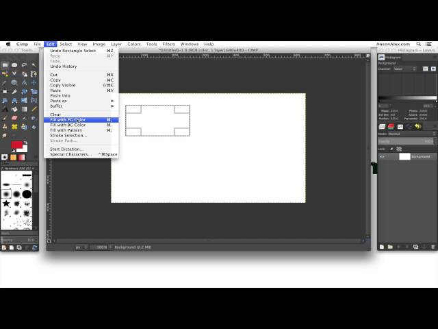 How to Draw Shapes in GIMP 2 8 - YouTube