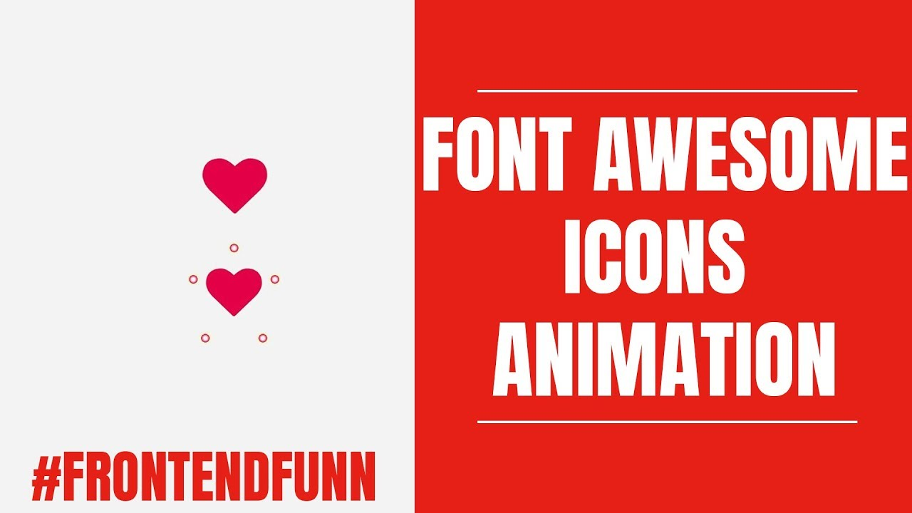 Font Awesome icon Animation Tutorial - #frontendfunn