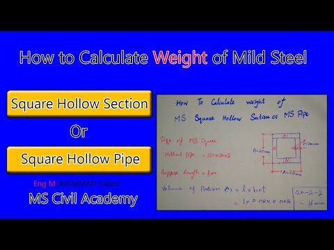 How to Calculate Weight of M S Square Hollow Section|Square hollow Pipe
