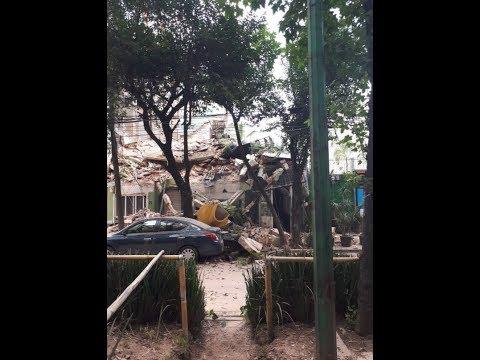 Colapsa edificio en la colonia Hipódromo Condesa