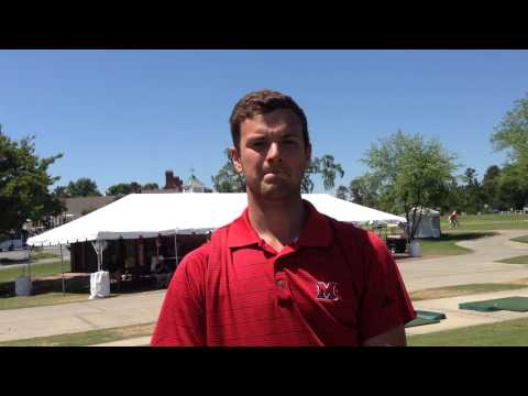 Junior Jack Sparling talks about practice round at NCAA Regional