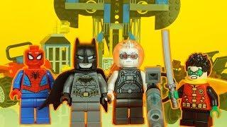 LEGO SPIDERMAN, BATMAN & ROBIN vs MR FREEZE lego superhero toys