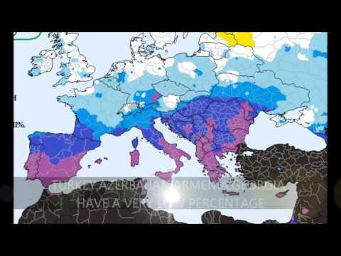 The Blue Light Grey And Green Eyes Map Of Europe Youtube