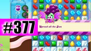 Candy Crush Soda Saga Level 377 NEW | Complete!