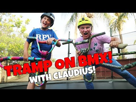 INSANE GAME OF TRAMP ON BMX WITH CLAUDIUS VERTES!