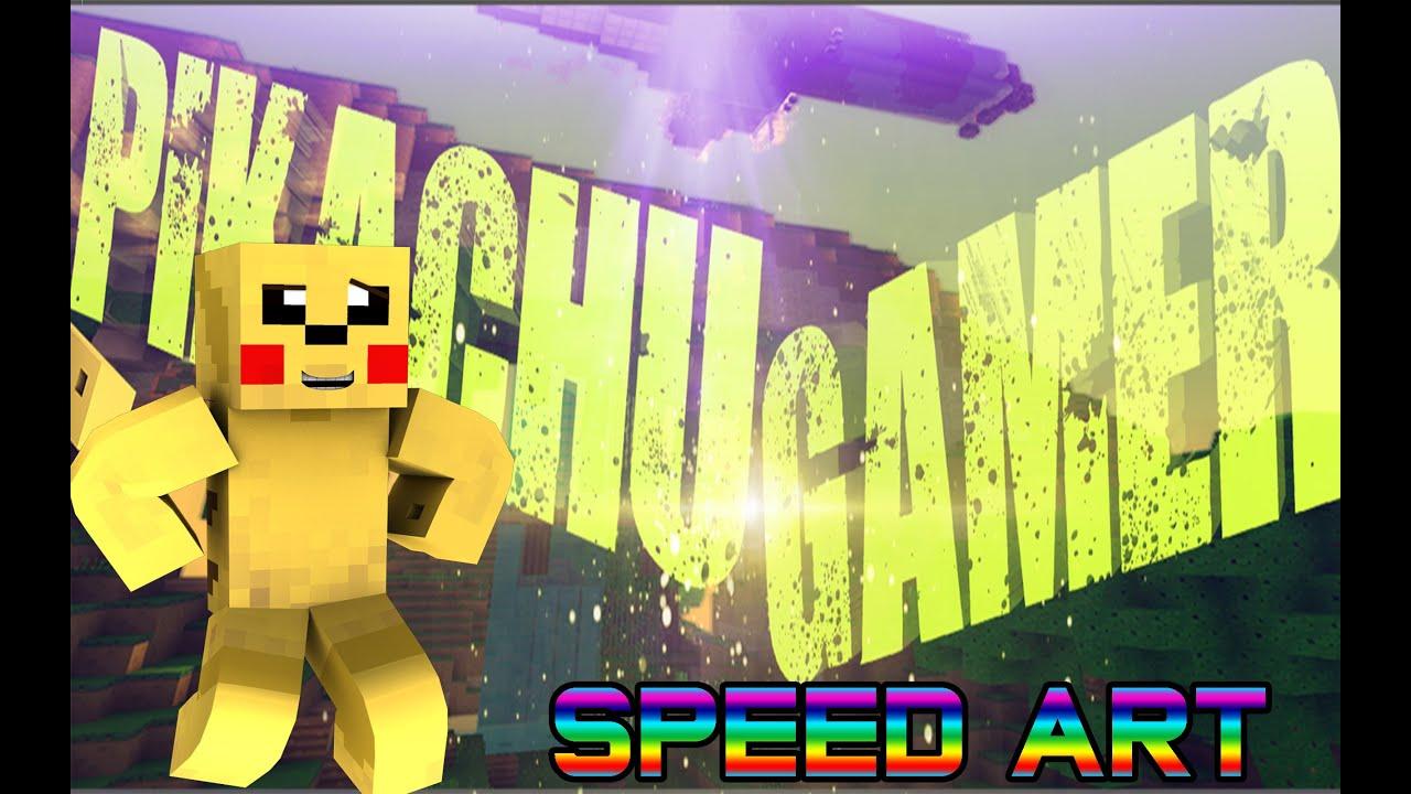 Speed Art: Pikachu Gamer -Minecraft Banner