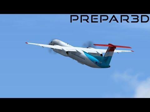 P3D v4   IVAO   Luxemburg - London City   Dash 8    GER/ENG   Sims4u   mit homermax122
