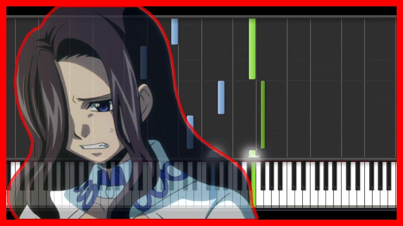 Fairy Tail - Sad Theme (Piano)-anime{easy piano tutorial}-(Synthesia