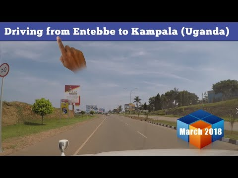 Driving from Entebbe to Kampala March 2018