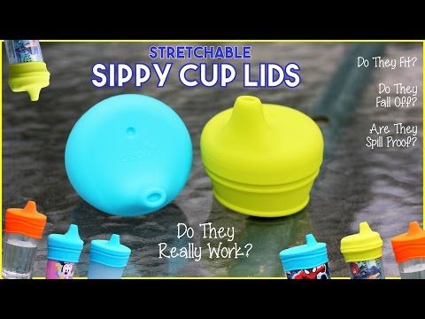 Review - Boon SNUG Spout Universal Silicone Sippy Cup Lids -Do Stretchable Tops Work ?