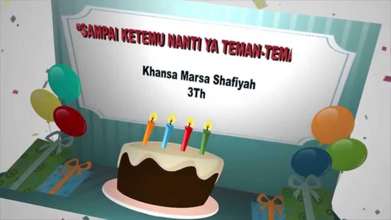 undangan pesta ulang tahun - khansa