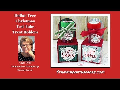 Dollar Tree Christmas Test Tube Holder