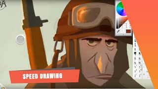 The SPA Studios | 'The Soldiers' Speed Drawing by Sergio Pablos