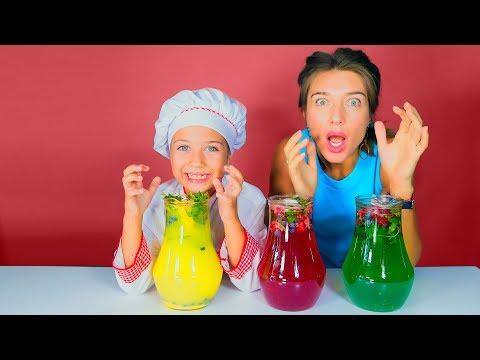 დედა და მზარეული ემილია ზღაპრულ სამზარეულოში ამზადებენ ჯადოსნურ ლიმონათს
