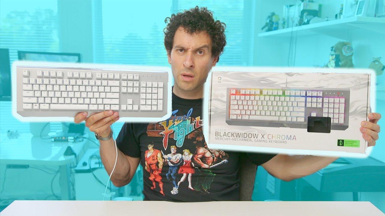 Hands-on with the Razer Blackwidow Chroma X keyboard (Mercury Edition)