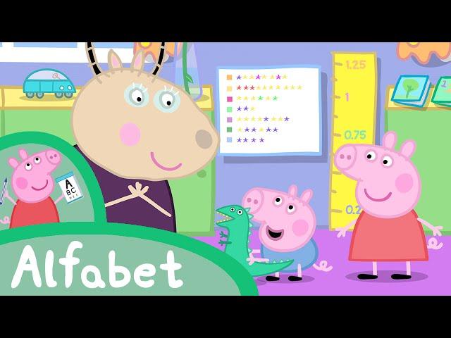 Peppa Pig Nederlands Compilatie Nieuwe Afleveringen | Leer het alfabet met Peppa! | Tekenfilm
