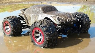 RC ADVENTURES - MUD BOG - Traxxas Summit 4x4 gets Sloppy (1/10th Scale)