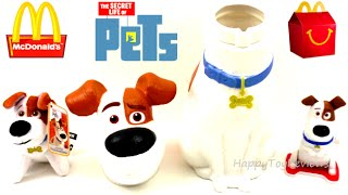 2016 THE SECRET LIFE OF PETS MOVIE MAX MOVIE THEATERS DRINK CUP McDONALD'S HAPPY MEAL TOYS KIDS SET