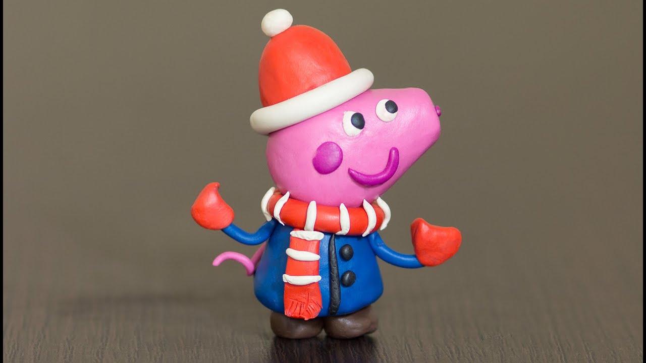 Лепка из пластилина. Свинка Пеппа Новый Год - Make ...